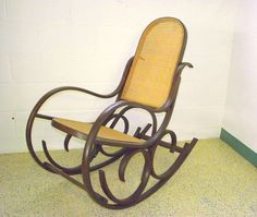 Authentic Luigi Crassevig Rocking Chair Bentwood by OldMillVintage