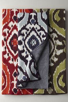 """Neiman Marcus """"Eco"""" Ikat Throw, $195, available at Neiman Marcus."""