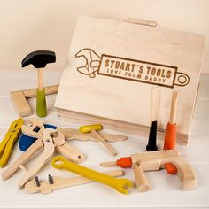 Personalised Children's Wooden Toy Tool Set & Case. Quirky GiftsUnusual ...