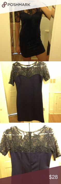 Formal Dress Formal navy bodycon dress only worn once. Dresses Mini