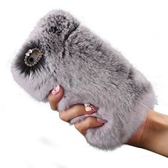 Malloom® Fluffy Villi Fur Plush Wool Case Cover + PEN + Film (iPhone 6/ 6S Plus, Grey):Amazon.co.uk:Electronics