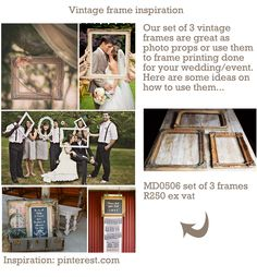 Ideas on how to use our vintage frames we rent