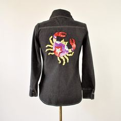 70s Roncelli Beaded Crab Shirt now featured on Fab.