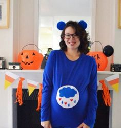Maternity Halloween Costume. Every Care Bear hasa little spot on its tummy showing what its…