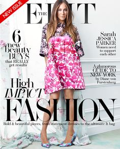 "Important reading for the commute-- Sarah Jessica Parker for ""The Edit"""