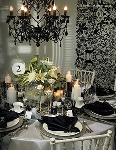 Great balance of blacks and whites and a splash of green