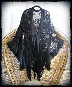 silk burnout velvet kimono