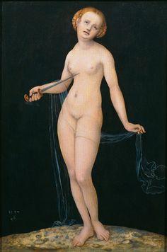 ❤ - LUCAS CRANACH (1472 - 1553) - The suicide of Lucretia -1532. Art Gallery of the Academy of Fine Arts Vienna.