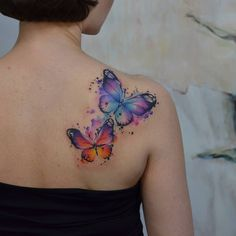 Fototattoo Ekaterina Surikova - Künstler Fototattoo Ekaterina Surikova Source by lubowickaa Butterfly Sleeve Tattoo, Watercolor Butterfly Tattoo, Colorful Butterfly Tattoo, Butterfly Tattoos For Women, Butterfly Tattoo Designs, Watercolor Tattoo Sleeve, Simple Butterfly, Monarch Butterfly, Girly Tattoos