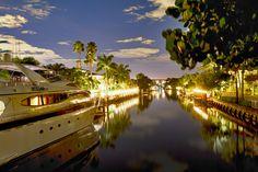 canal in Boca Raton, Florida.