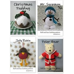 Christmas knitting pattern bundle special offer by fluffandfuzz