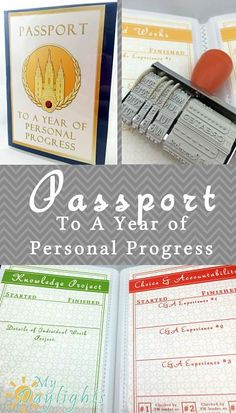 O Ye That Embark Personal Progress Passport with Printable Passport