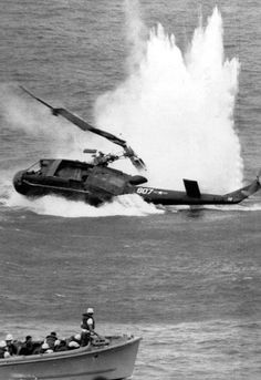 Chaos at sea: With the close of the Vietnam War Operation Frequent Wind evacuated 7000 people at the cost of several aircraft.
