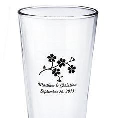 Personalized Pint Glasses- great favor for guests and the couple to remember their special day!
