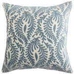 Flourish Leaflet Pillow - Blue  Pier One $30
