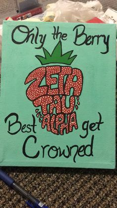 Zeta Tau Alpha strawberry ZTA