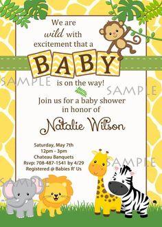 partyexpressinvitations - Animals Safari Jungle Baby Shower Invitations , $8.99 (http://www.partyexpressinvitations.com/animals-safari-jungle-baby-shower-invitations/)
