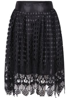 Black Hollow Lace Skirt 19.17