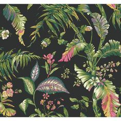 "Ashford Tropics Fiji Garden 27' x 27"" Floral and Botanical Wallpaper 