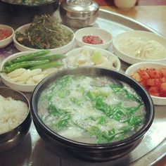 돼지국밥 - Pork soup with rice