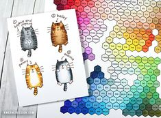 What color is your cat? Coloring cats with Copic Markers (plus Hex Chart BLOG HOP!)