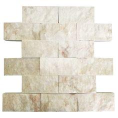 Bej 5X10 Fileli Patlatma Taş  www.tasdekorcum.com #dekor #patlatmatas #mozaik #dogaltas#naturalstonemosaic #naturalstone  Natural Stone Mosaic Natural Stone Wall Natural Stone Mosaic Subway Wall Tile Fileli Patlatma Taş Doğal Taş Patlatma Mozaik