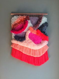 Woven wall hanging / Furry Landscape / Handwoven by Jujujust, on Etsy.