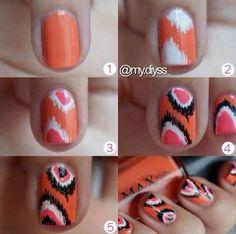 Cute print nails .