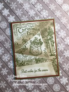 Christmas card with the retiform technique Stampin up Father Christmas