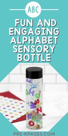 Are you looking for a fun and engaging alphabet activity for your little learners? This alphabet sensory bottle is super quick and easy to make and your kids will have a blast shaking it and watching the letters gently swirl and float around inside. Learning the letters of the alphabet has never been so calming and relaxing!