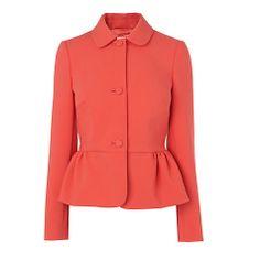 Buy Boutique by Jaeger Peplum Jacket, Bright Orange Online at johnlewis.com