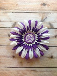 "Relay for Life 4"" Hair Bloom - All money goes to the Relay for Life on Etsy, $5.00"