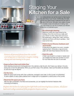 Kitchen Staging Tips...