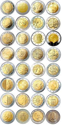 Hoy vamos a dar un repaso a las monedas de 2 euros que no son conmemorativas, monedas que los que somos coleccionistas tenemos más vistas, ya que años tras año nos ofrecen los mismos diseños. Según… Rare Coins Worth Money, Valuable Coins, Valuable Pennies, Euro Währung, Timbre Collection, Euro Coins, Coin Art, Coin Values, Bullion Coins
