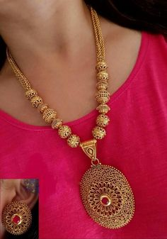 Temple Jewellery Available at Ankh Jewels for booking msg on Gold Jewellery Design, Gold Jewelry, Beaded Jewelry, Gold Necklace, Emerald Bracelet, Antique Necklace, Jewellery Earrings, Diamond Bangle, Antique Jewellery