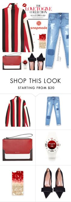 """SNAPMADE NO.9"" by tfashionspeaks ❤ liked on Polyvore featuring MSGM, Bebe, Marni and Bomedo"