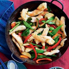 Plum and fish stir-fry | Australian Healthy Food Guide