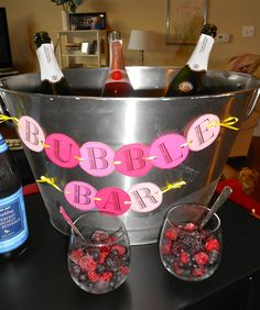 Champagne bar, champagne bucket, bubble bar. Perfect for NYE party!