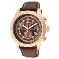 Invicta Men's Speciality Chronograph Watch In Brown  Rose Gold