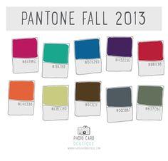 Pantone Fall 2013 Colors — Photo Card Boutique