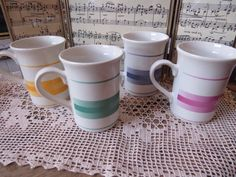 Vintage Coree Collection Manoir Coffee Mugs by CreativeWorkStudios