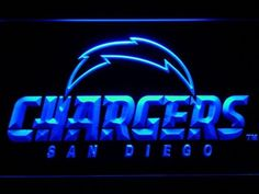 San Diego Chargers Led Sign On/Off Switch Football Neon Light Sign Gift