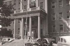 A 1950 photo of the entrance to Germantown Hospital, located at Wister and Penn St. Source of photo is the archives of PhillyHistory.org