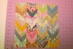 Mini Patchwork Chevron Block Tutorial