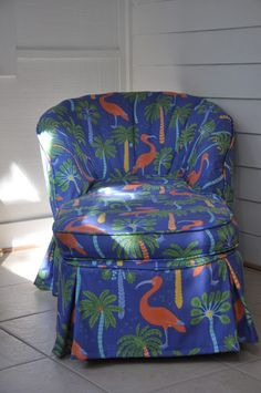 outdoor fabric on a worn out chaise...