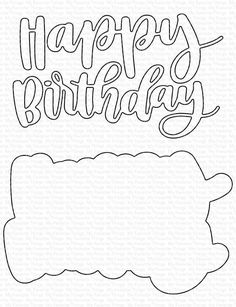 Birthday Games, It's Your Birthday, Happy Birthday Words, Diy And Crafts, Paper Crafts, Mft Stamps, Birthday Cake Toppers, Paper Flowers, Hand Lettering
