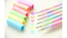 Ballpoint Pens – Kawaii Multi-colored Pastel Rainbow Gel Pens – a unique product…