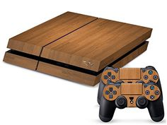 Wood Grain Body Decal Skin Sticker For Playstation 4