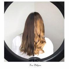 CAMBIO DE COLOR   Teresa Sanz Impresionante cambio el del cabello de @teresa_sanz , os lo contamos todo en nuestro Blog( link en Bio )⬆️⬆️ #cambiodecolortotal #evapellejero #purolove