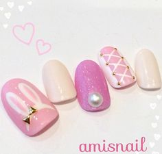 Nail design ears and tail is too lovely sensitive packed Innovation Moff of CUTE ♡ rabbit *